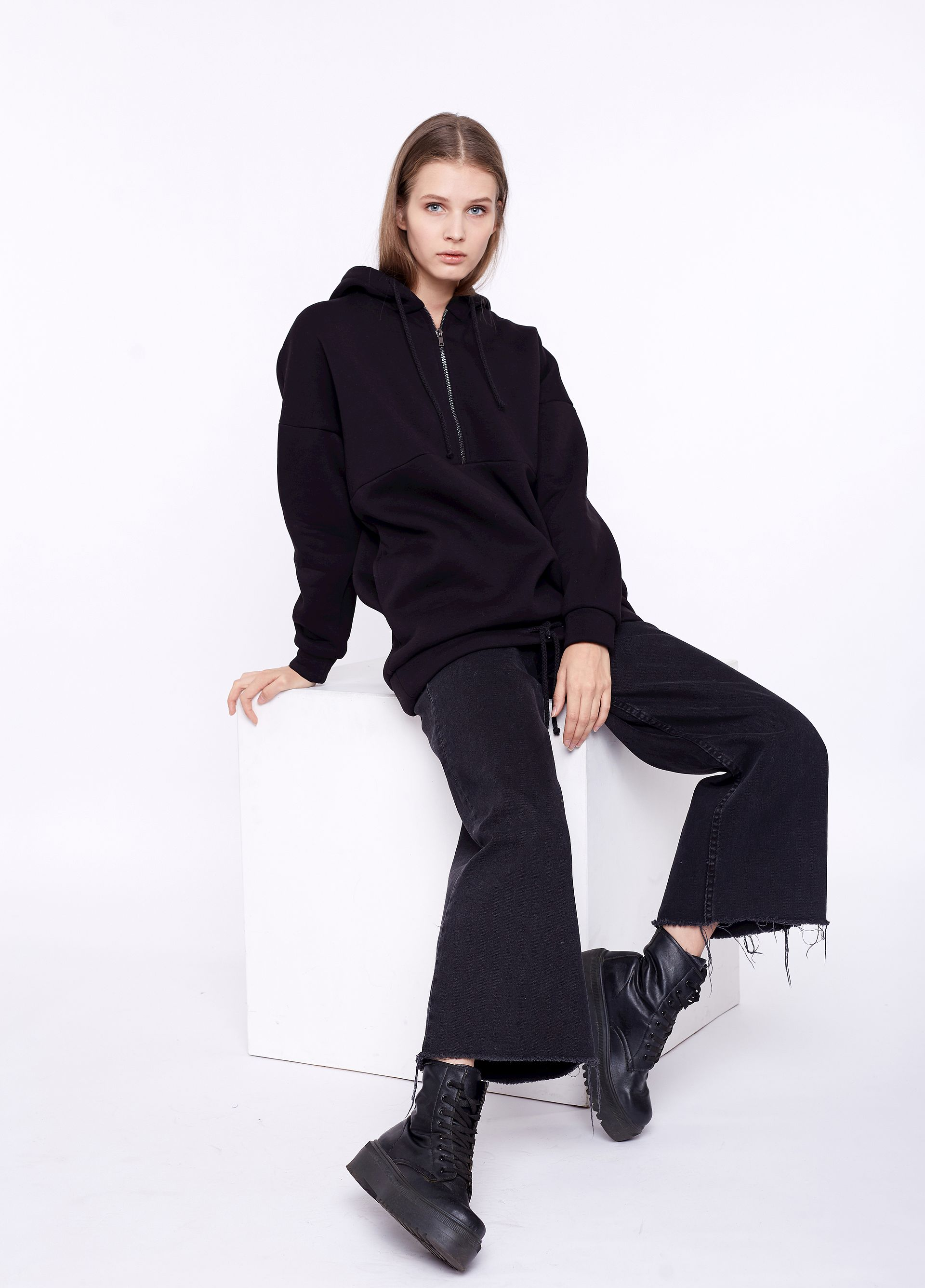 Oversize Pullover schwarz